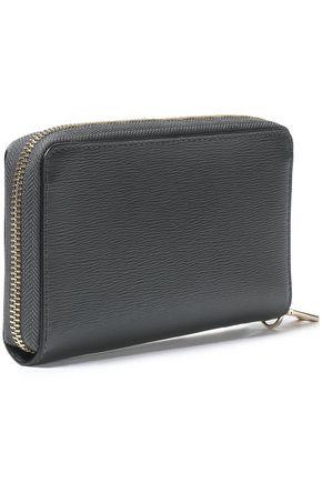 DKNY Metallic textured-leather wallet