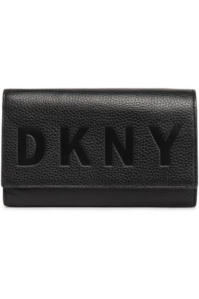 DKNY Embossed textured-leather wallet