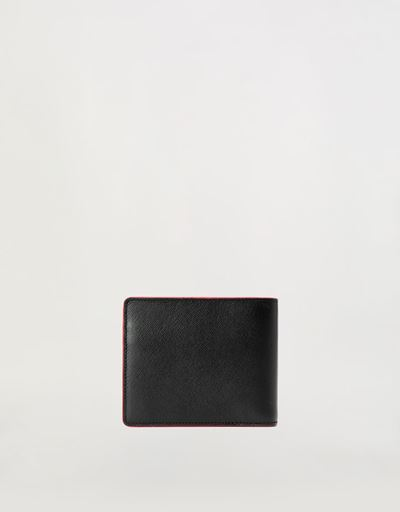 Horizontal EVO Saffiano bi-fold wallet with change pocket