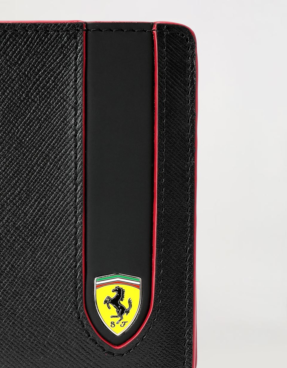 Scuderia Ferrari Online Store - EVO horizontal wallet in Saffiano leather with coin pocket -