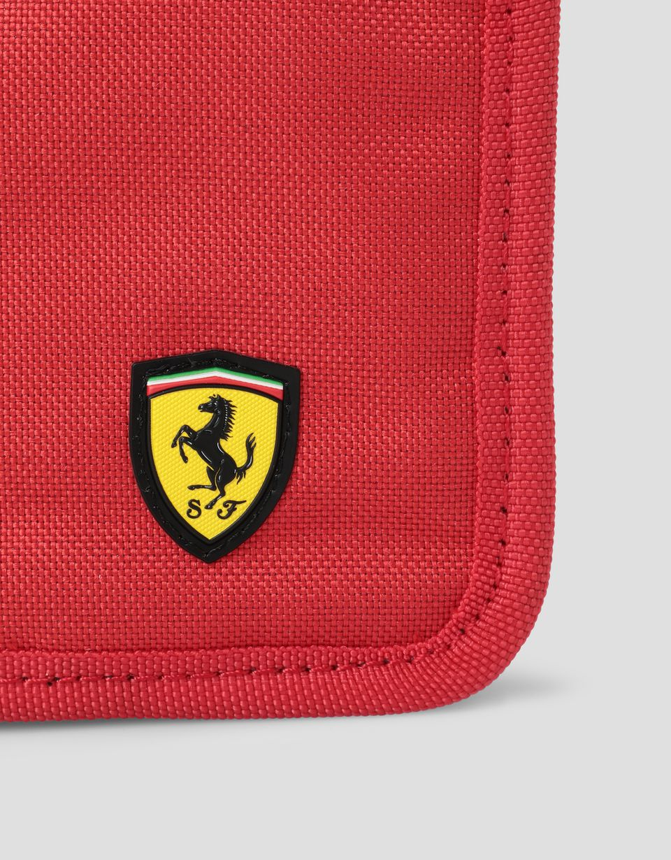 Scuderia Ferrari Online Store - Scuderia Ferrari Puma wallet with zip - Horizontal with coin Wallets