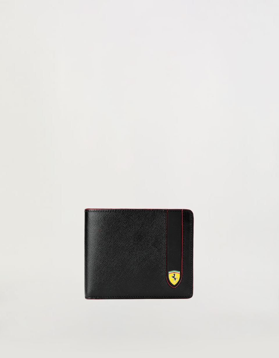 Scuderia Ferrari Online Store - EVO horizontal wallet in Saffiano leather - Horizontal Wallets