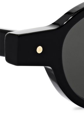 GREY ANT Oval-frame acetate sunglasses