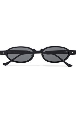 GREY ANT Oval-frame acetate sunglasses