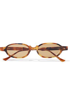 GREY ANT Oval-frame tortoiseshell acetate sunglasses