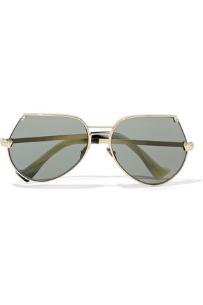 GREY ANT Embassy aviator-style gold-tone sunglasses