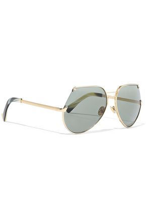 GREY ANT Embassy aviator-style gold-tone sunglasses