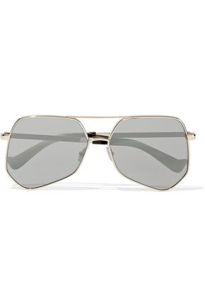 GREY ANT Aviator gold-tone sunglasses