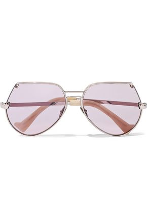 GREY ANT Embassy aviator-style rose gold-tone sunglasses