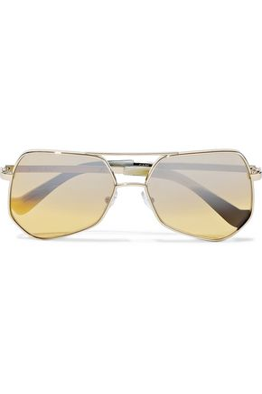 GREY ANT Megalast aviator-style gold-tone sunglasses
