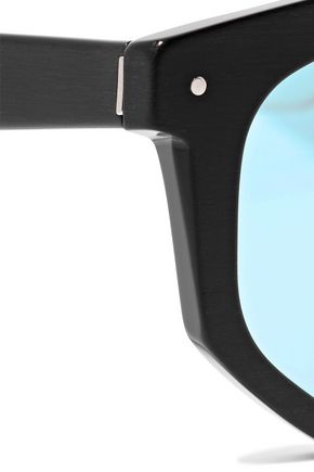 GREY ANT Composite round-frame acetate mirrored sunglasses