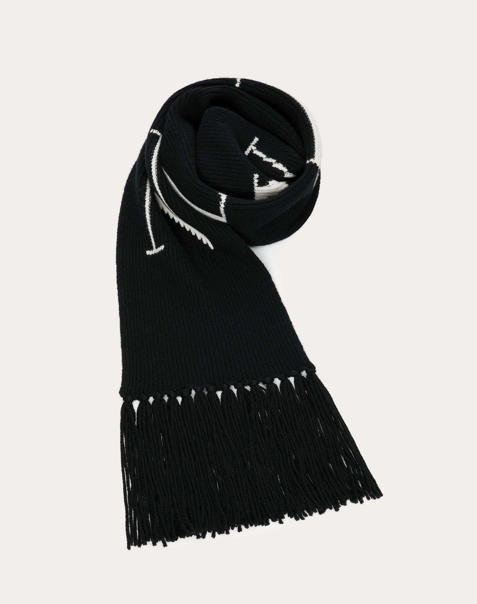 Sciarpa in maglia con dettaglio VLTN