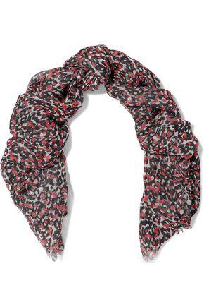 IRO Tejoli floral-print gauze scarf