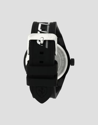 Scuderia Ferrari Online Store - Black Red Rev watch with white logo and detailing - Quartz Watches