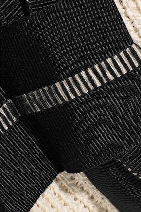 EUGENIA KIM Bunny grosgrain-trimmed woven paper-blend sunhat