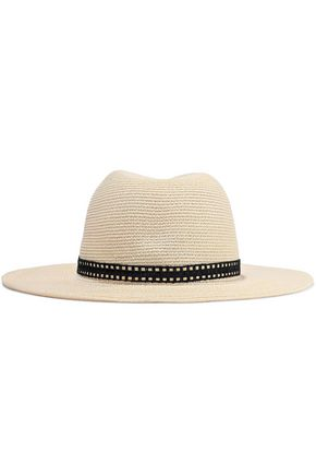 EUGENIA KIM Courtney raffia-trimmed woven paper-blend sunhat