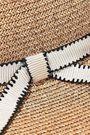 EUGENIA KIM Honey grosgrain-trimmed woven paper-blend sunhat