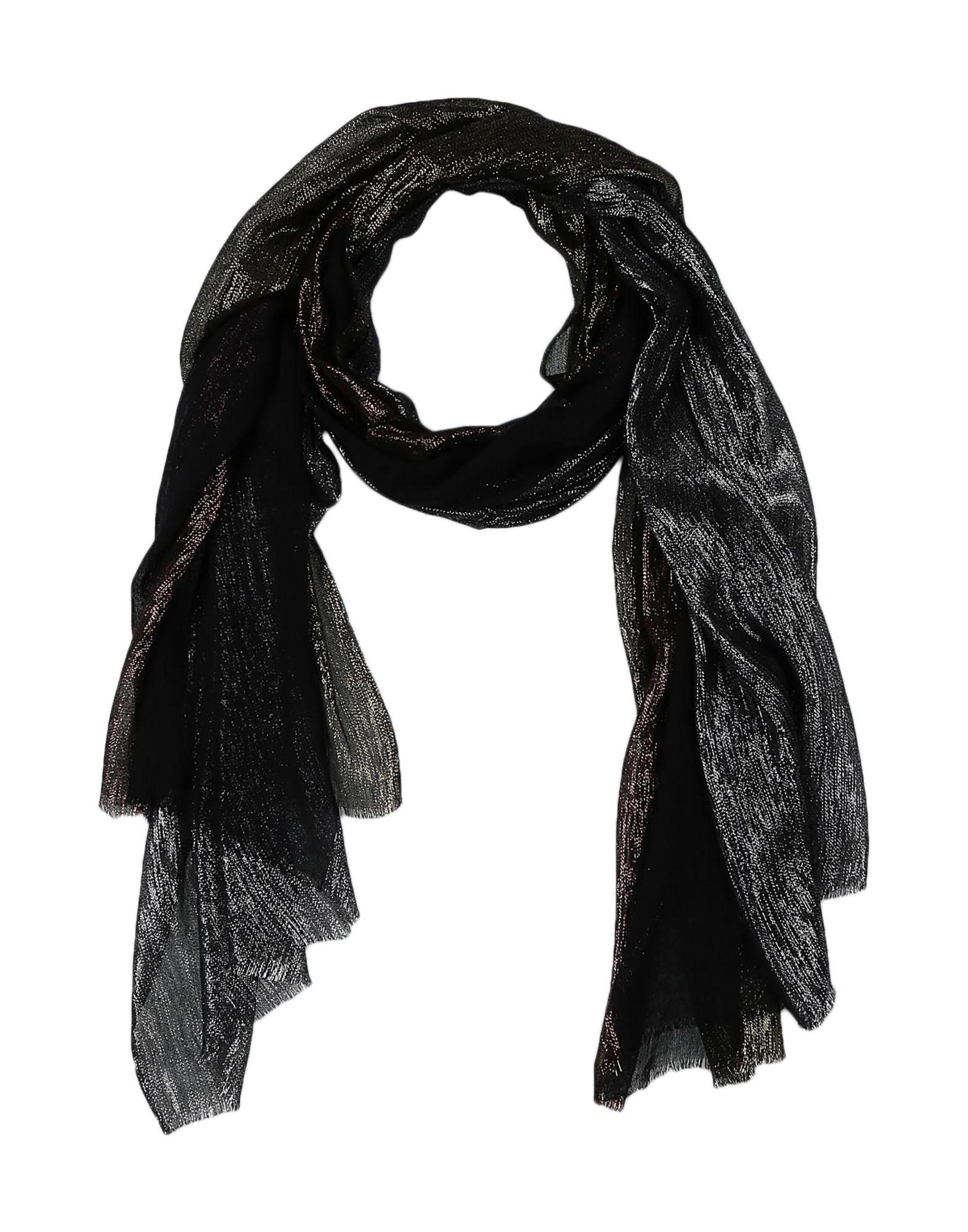 《期間限定セール開催中!》DIANORA SALVIATI レディース ストール ブラック 紡績繊維