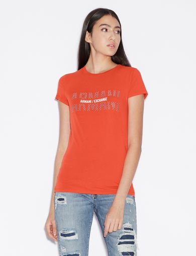 dc9fab48 Armani Exchange Women's T-Shirts & Tank Tops | A|X Store