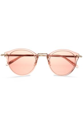 OLIVER PEOPLES OP-505 round-frame acetate and gold-tone sunglasses