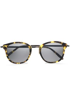 55c090e2a25 OLIVER PEOPLES Round-frame tortoiseshell acetate sunglasses ...
