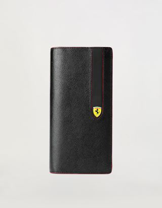 Scuderia Ferrari Online Store - Vertical Evo Saffiano bi-fold wallet - Vertical Wallets
