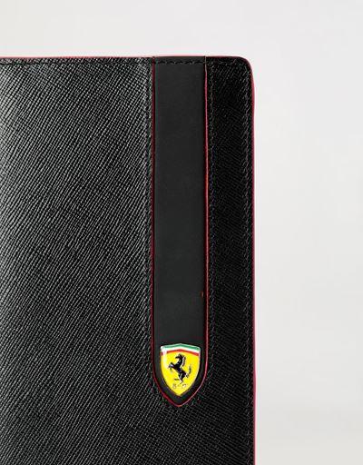 Scuderia Ferrari Online Store - EVO Saffiano 十字纹皮革纵向钱包 - 长款钱包