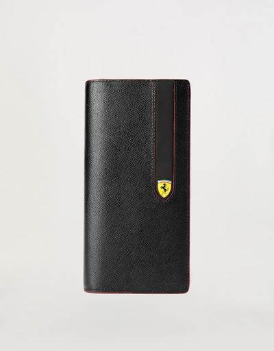 Evo vertical wallet in Saffiano leather