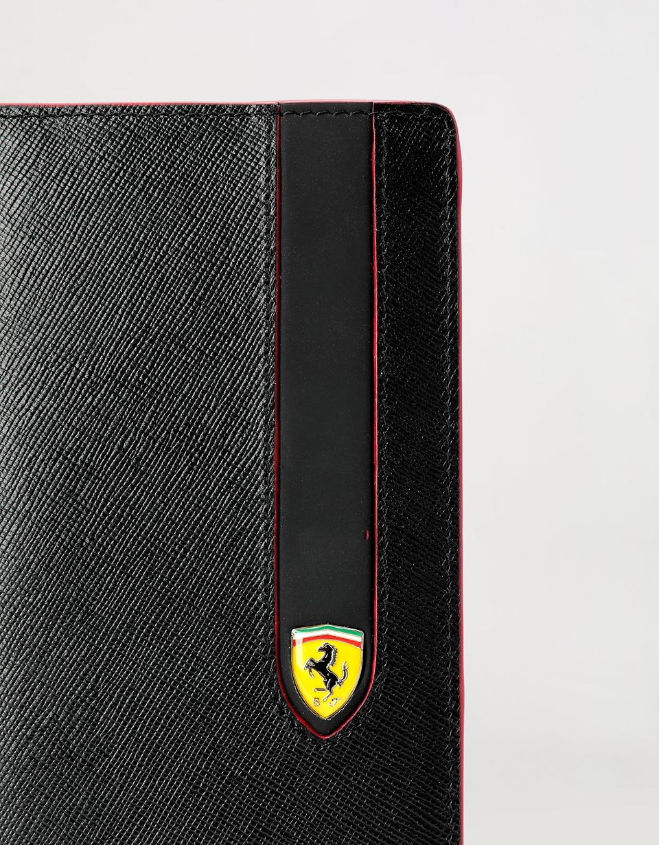 Scuderia Ferrari Online Store - EVO vertical wallet in Saffiano leather - Vertical Wallets