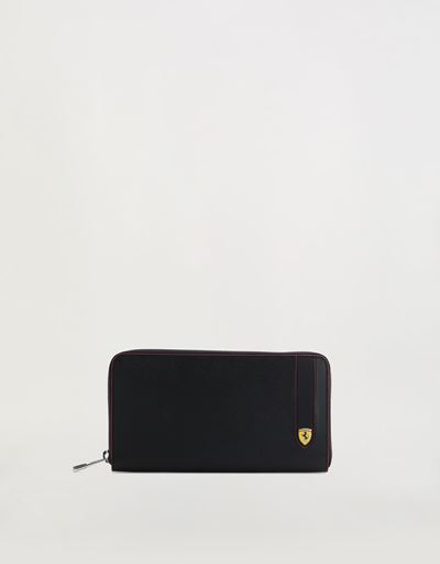 Evo Saffiano leather zip-around wallet