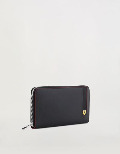 EVO zip-around wallet in Saffiano leather.