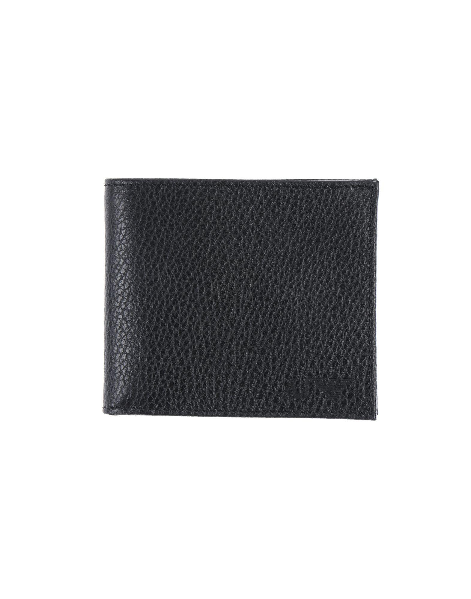 《期間限定 セール開催中》ARMANI JEANS メンズ 財布 ブラック 革