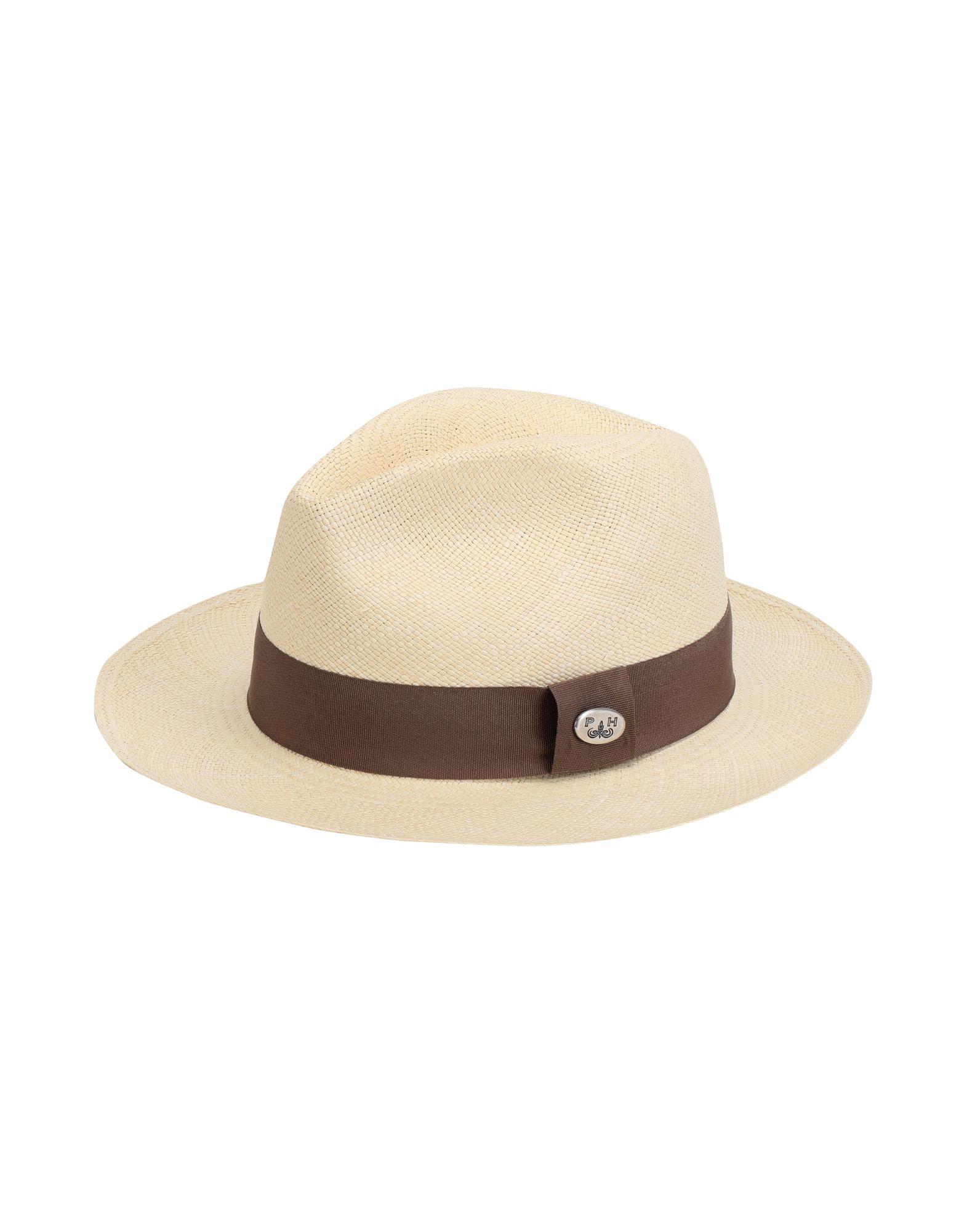 《期間限定セール開催中!》PANAMA HATTERS Unisex 帽子 ベージュ L ストロー 100% EMPORIO PANAMA CLASSIC NATURAL BANDA COLOR LIGHT MARRONE