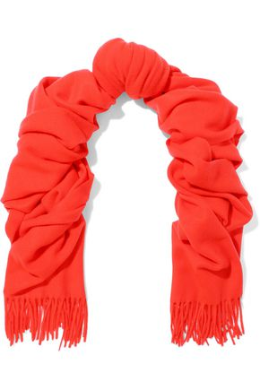 RAG & BONE Classic fringed brushed-wool scarf