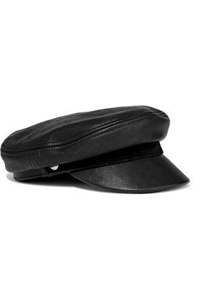 RAG & BONE Fisherman suede-trimmed leather cap