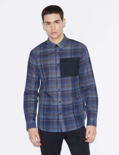 398713c2a57 Armani Exchange Men s Shirts - Dress   Casual