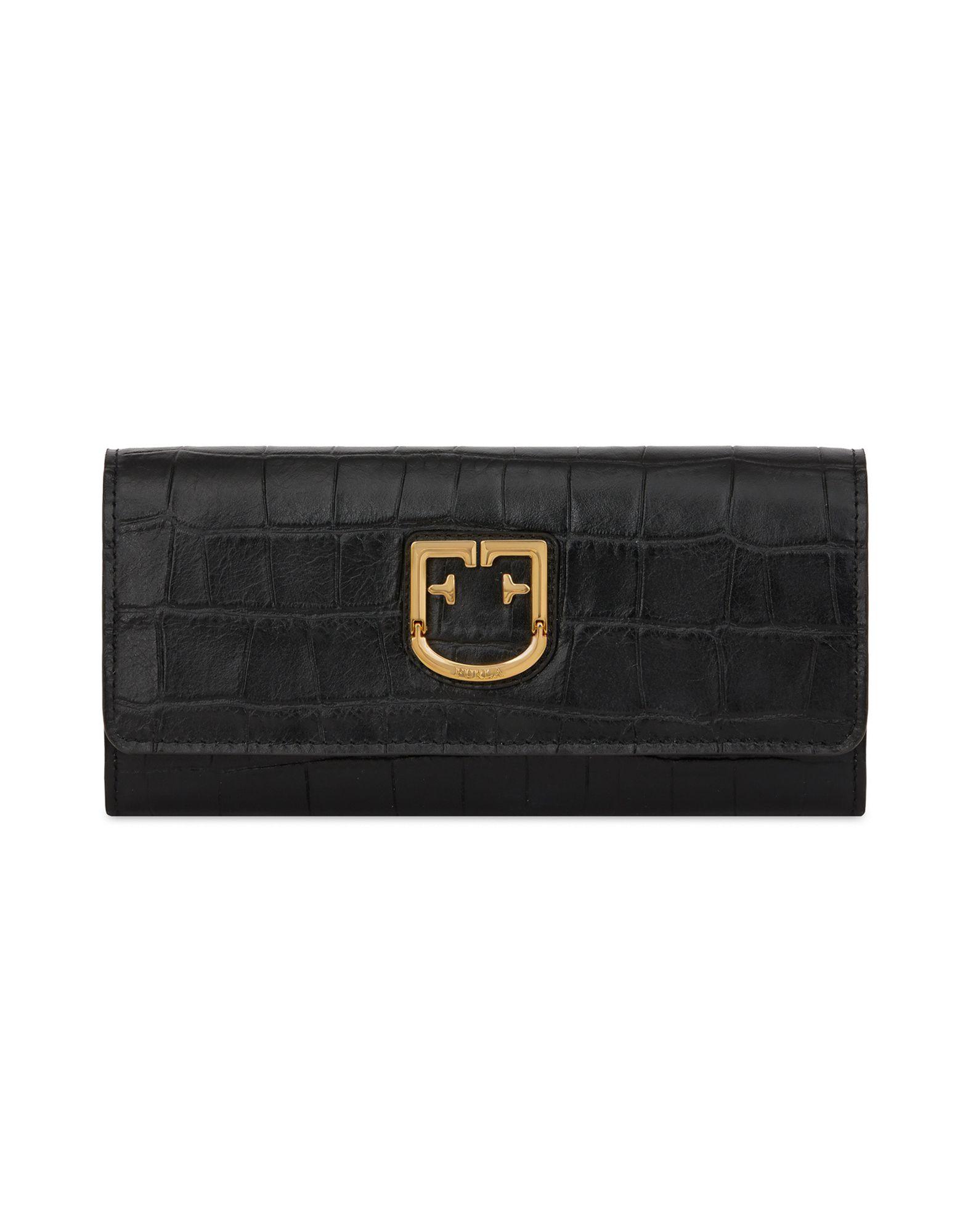 8709e7b4a797 《送料無料》FURLA レディース 財布 ブラック 革 100% FURLA BELVEDERE XL BI-