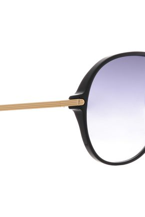 VICTORIA BECKHAM Aviator-style acetate and gold-tone sunglasses