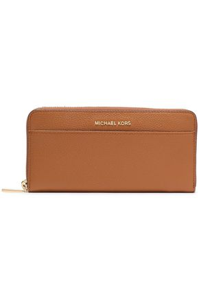 MICHAEL MICHAEL KORS Textured-leather continental wallet