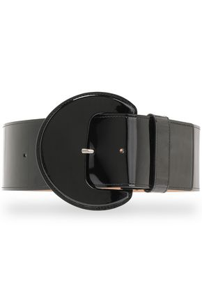 MICHAEL KORS | Michael Kors Collection Patent-Leather Belt | Goxip