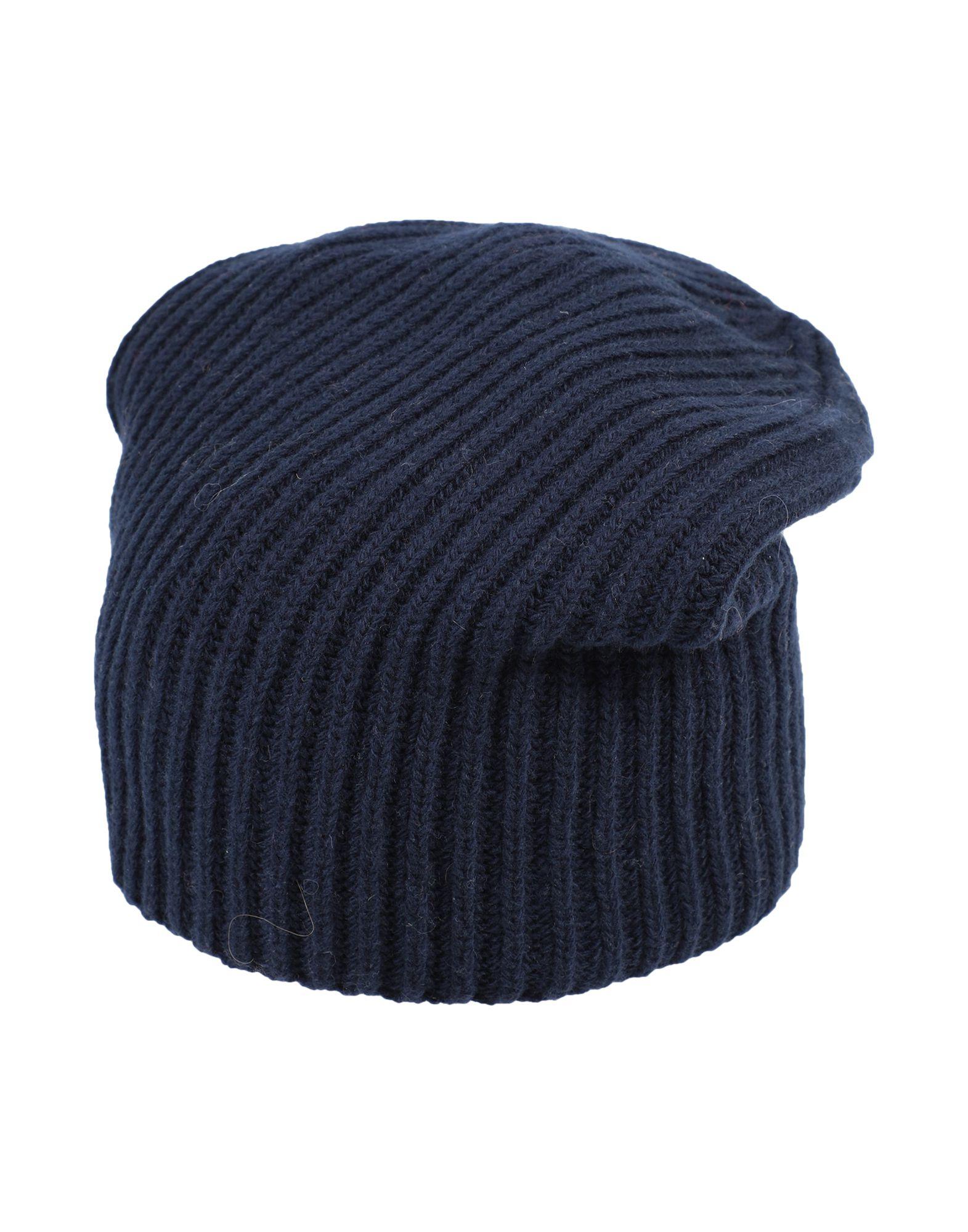 《セール開催中》ERIKA CAVALLINI レディース 帽子 ダークブルー one size ウール 90% / カシミヤ 10%