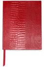 SMYTHSON Croc-effect leather notebook