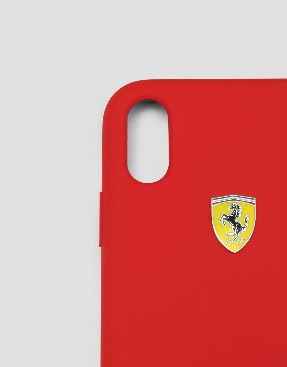 Scuderia Ferrari Online Store - Red silicone hard case for iPhone XR - Smartphone Accessories
