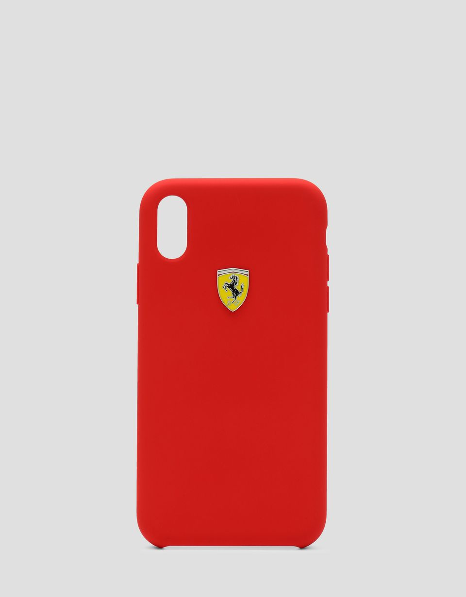 Scuderia Ferrari Online Store - Red rigid silicone case for the iPhone XR - Smartphone Accessories