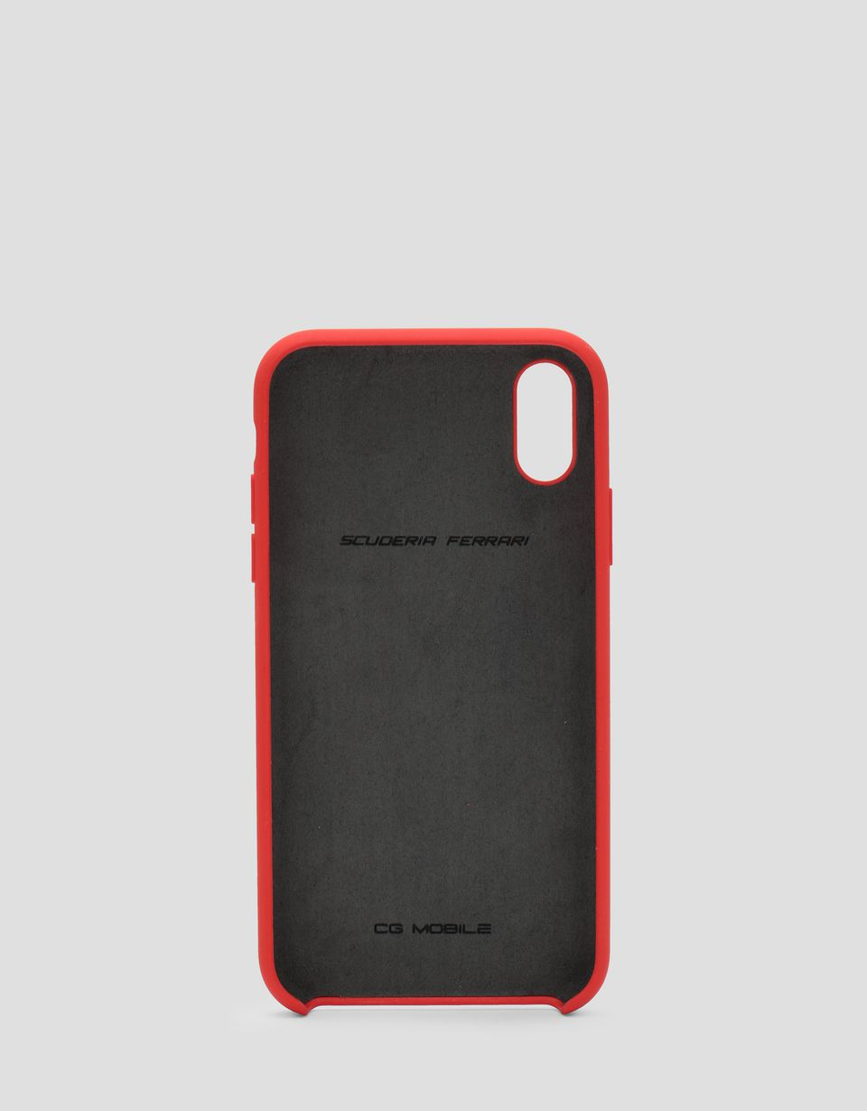 Scuderia Ferrari Online Store - Red rigid silicone case for the iPhone XR -