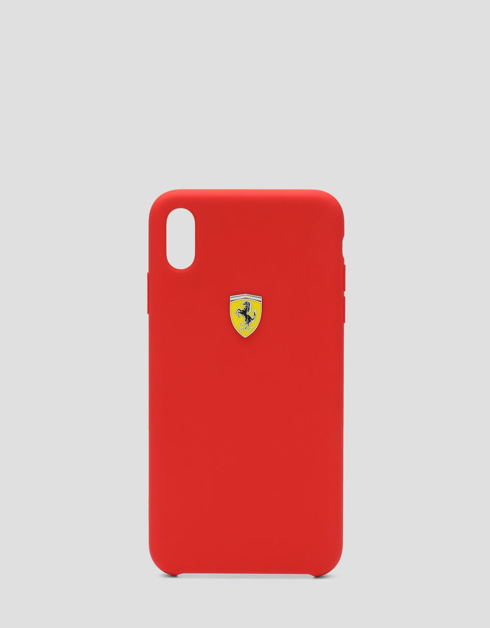 Scuderia Ferrari Online Store - Red rigid silicone case for the iPhone XS Max - Smartphone Accessories