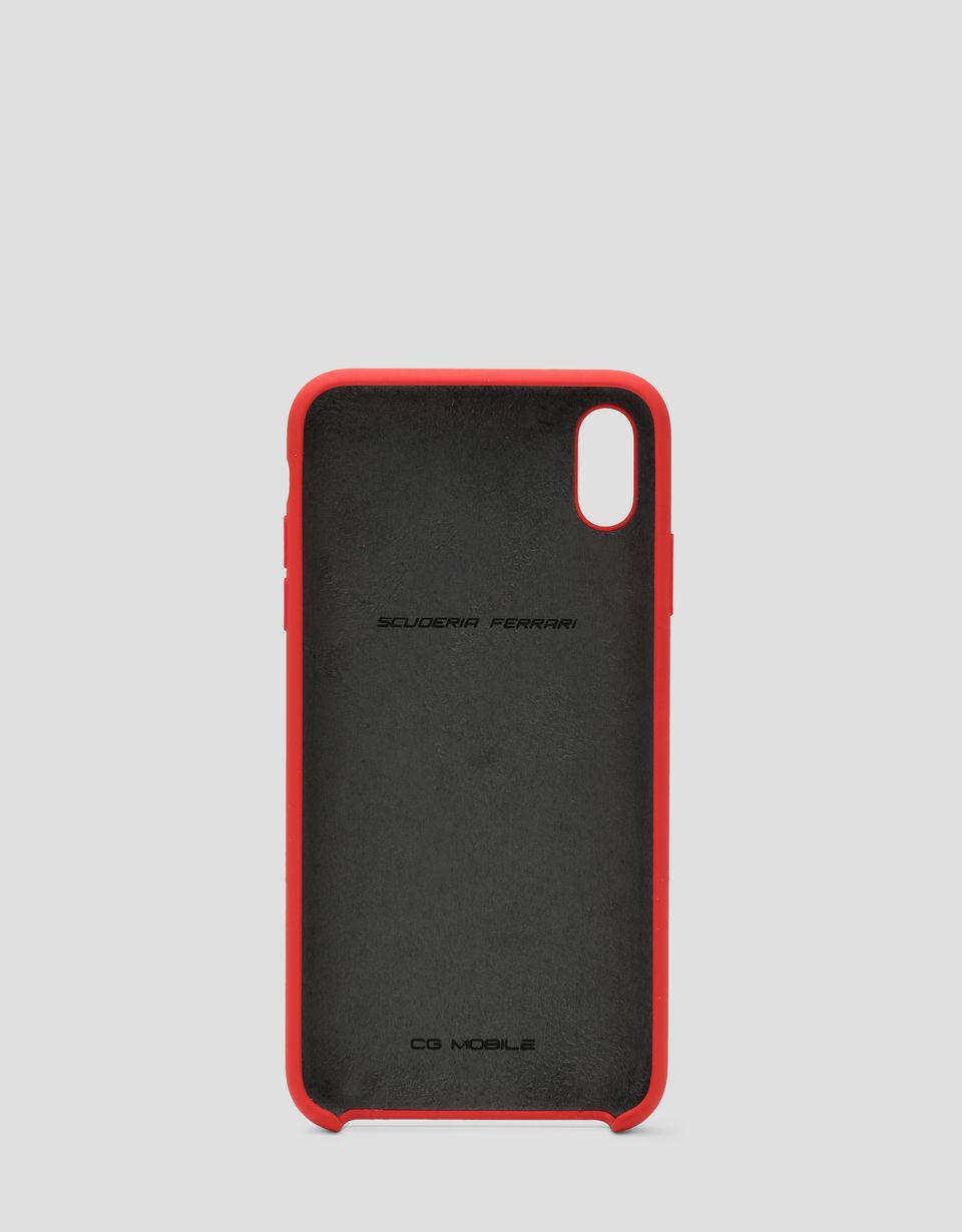 Scuderia Ferrari Online Store - Red silicone hard case for iPhone XS Max - Smartphone Accessories