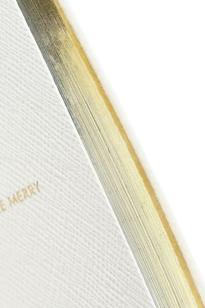 SMYTHSON Panama Make Merry textured-leather notebook