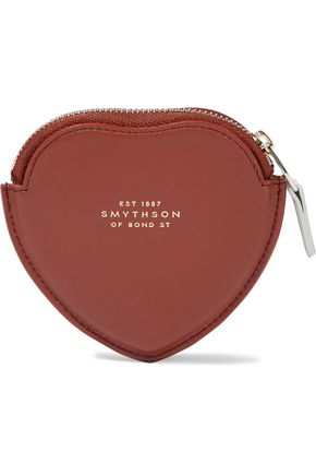 SMYTHSON Panama smooth and textured-leather coin purse