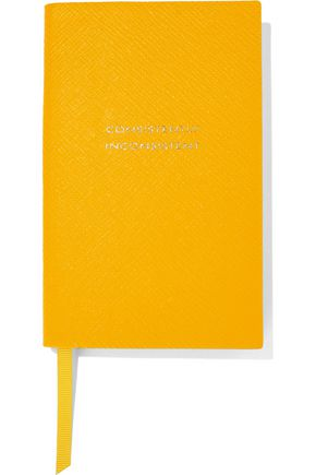 SMYTHSON Panama Consistently Inconsistent textured-leather notebook